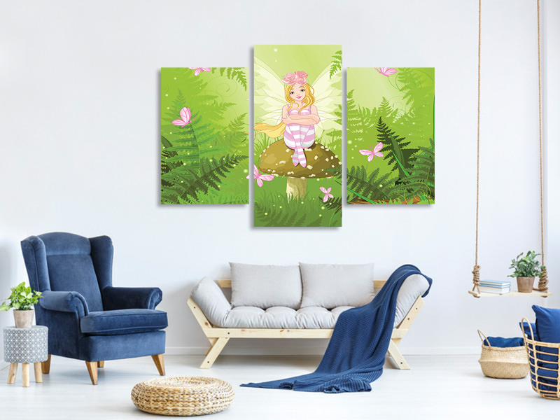 Modern 3 Piece Canvas Print The Good Fairy