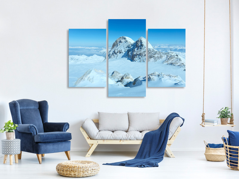 Modern 3 Piece Canvas Print Above The Clouds