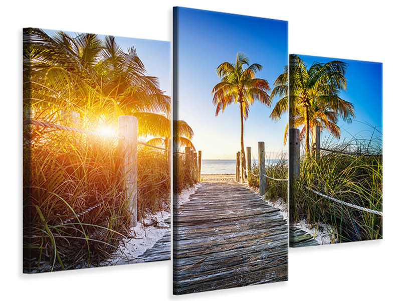 Modern 3 Piece Canvas Print Beach Away