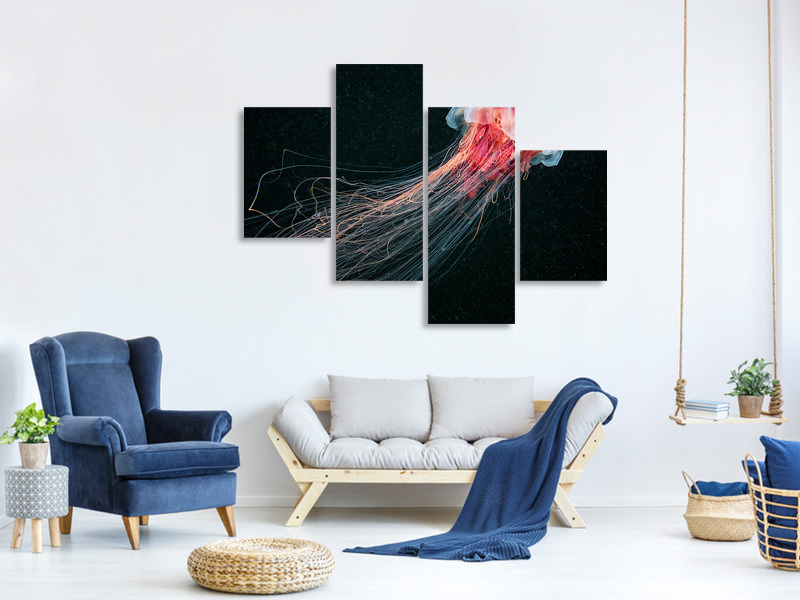 Modern 4 Piece Canvas Print Longtail