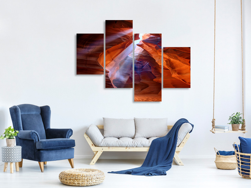 Modern 4 Piece Canvas Print Pure Photodelight