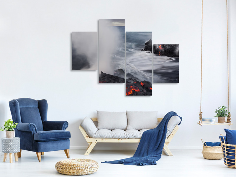 Modern 4 Piece Canvas Print Fried Feet