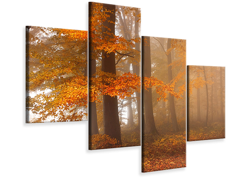 Modern 4 Piece Canvas Print Edge Of The Woods