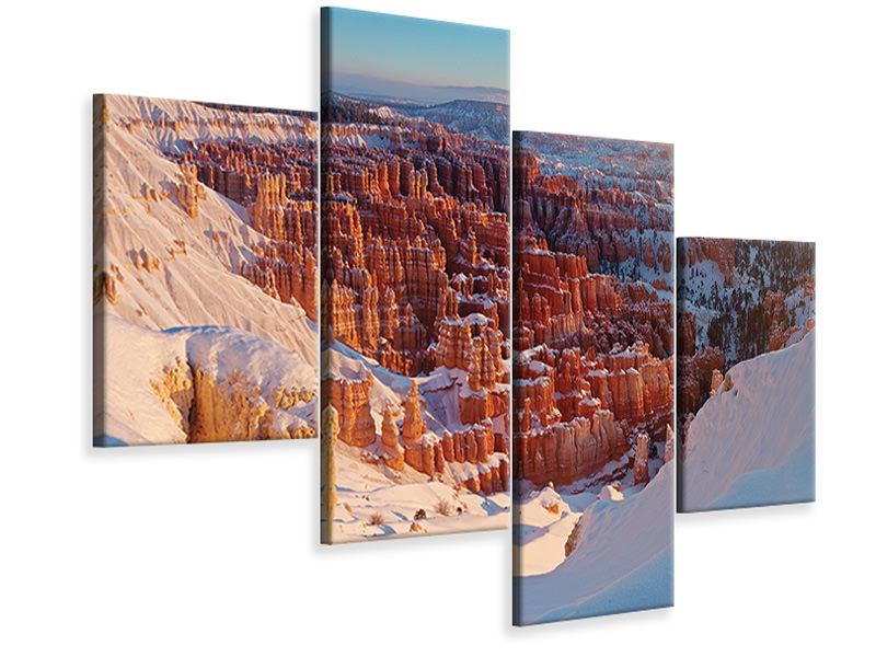 Modern 4 Piece Canvas Print Inspiration Point