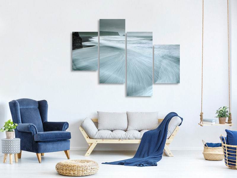 Modern 4 Piece Canvas Print Magic Country I