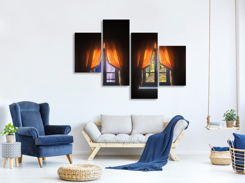 Modern 4 Piece Canvas Print 4Seasons