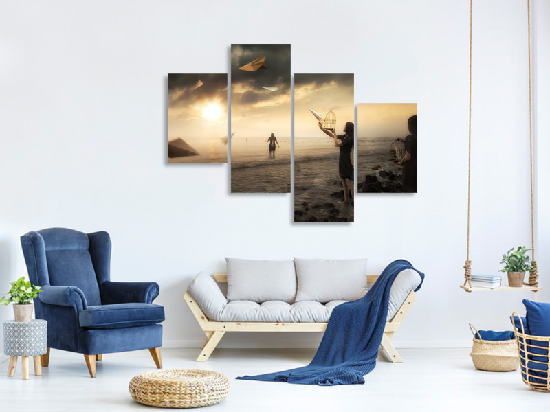 Modern 4 Piece Canvas Print Released