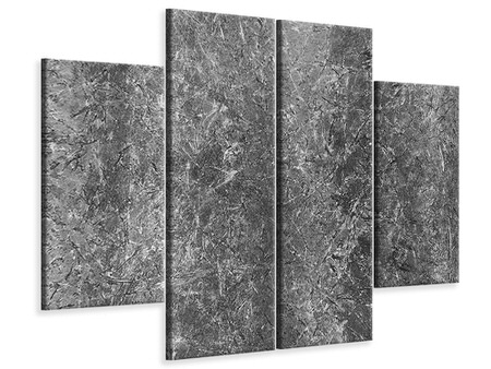 4 Piece Canvas Print Concrete abstract