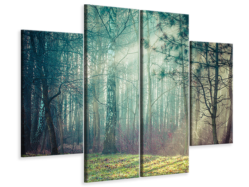 4 Piece Canvas Print Pinewood
