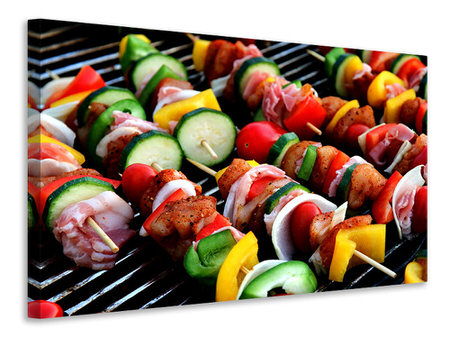 Canvas print Shashlik skewers