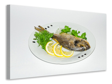 Canvas print Grilled fish