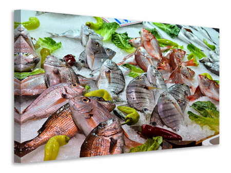 Canvas print Raw fish