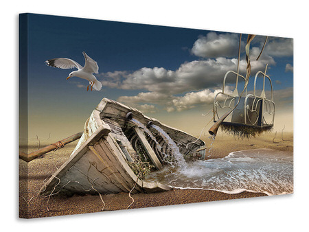 Canvas print Stranded Wreck