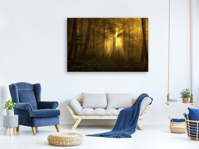 Canvas print Yellow - The Bigger Picture