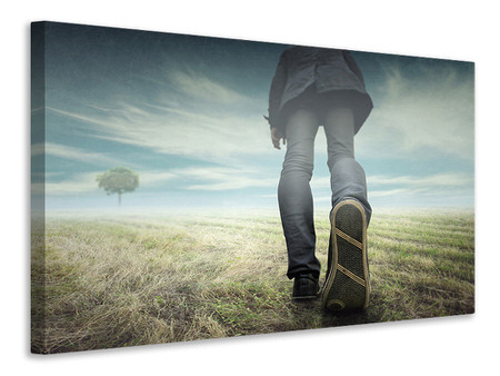 Canvas print Long Journey Starts From The First Step