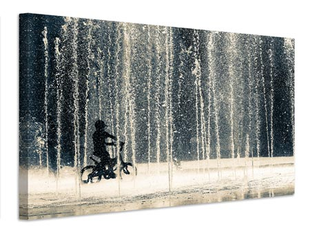 Canvas print Ride through the drops