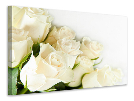 Tableau sur toile Roses blanches