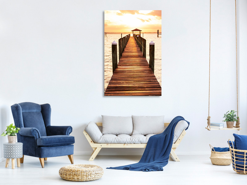 Canvas print Footbridge