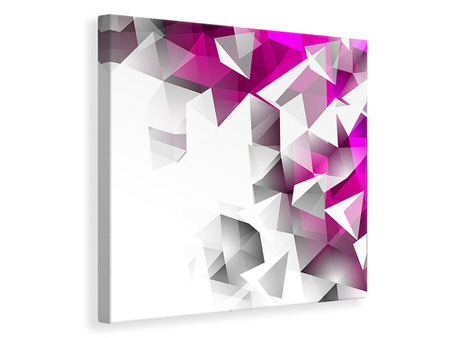 Canvas print 3D Crystals Pink