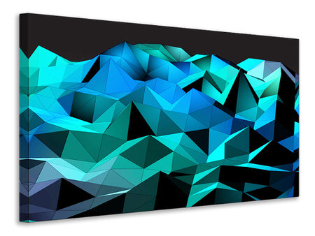 Canvas print 3D Diamonds