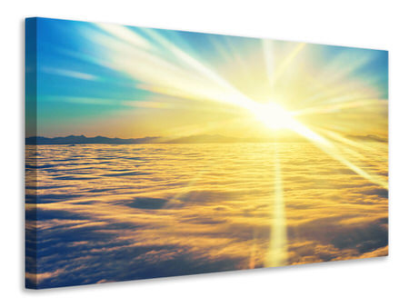 Canvas print Sunset Above The Clouds