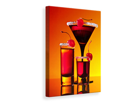 Canvas print Cherry cocktail