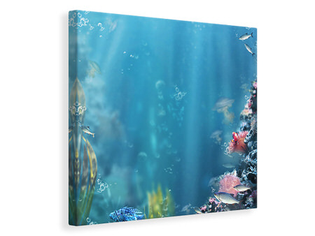 Canvas print Underwater