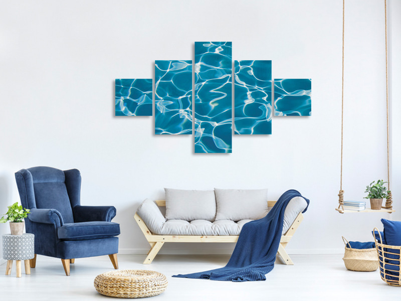 5 Piece Canvas Print Pool