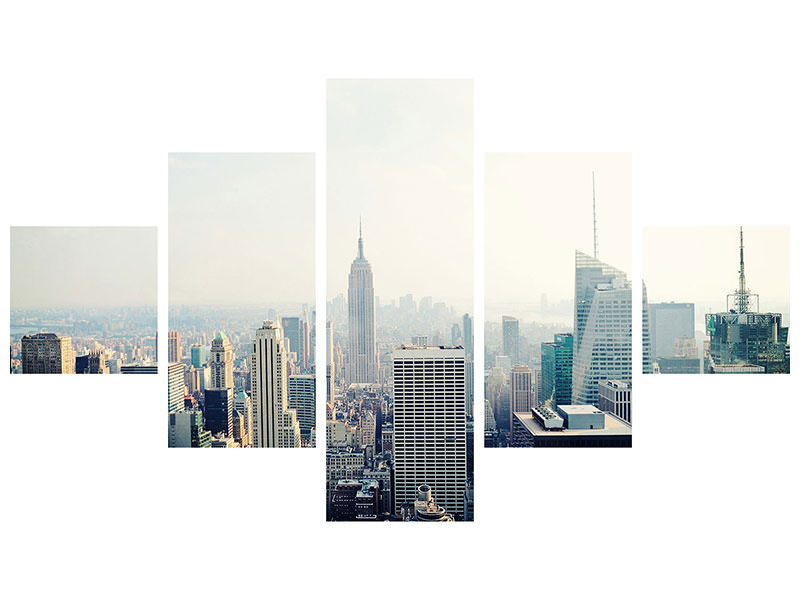 5 Piece Canvas Print NYC