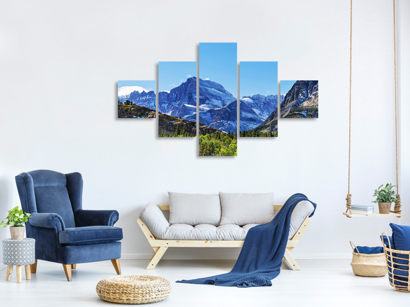 5 Piece Canvas Print The Summit Counter